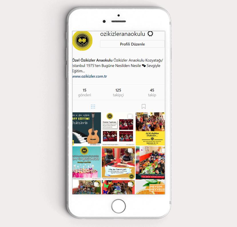 Özikizler Anaokulu Sosyal Medya İçerik Yönetimi